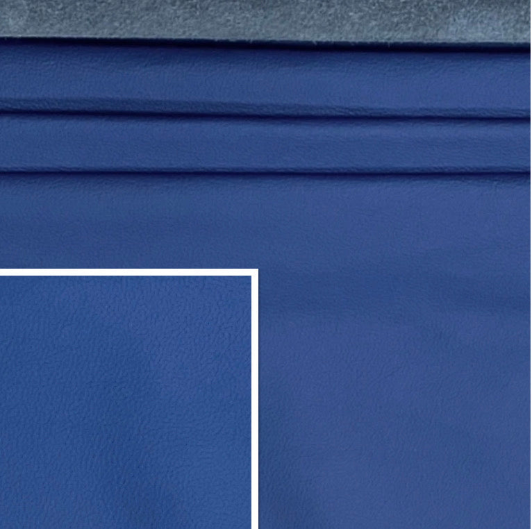 Newmarket Royal Blue Italian Leather Cow Hide : (0.9-1.1mm) This Hide Is Perfect for Leather Upholstery ,Leather Crafts, Leather Bags , Leather Accessories.