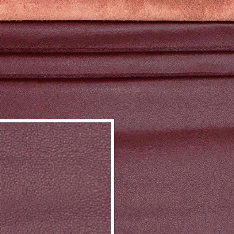 Sandhurst Crimson Dark Red Italian Leather Cow Hide : (1.3-1.5mm) This Hide Is Perfect for Leather Upholstery , Leather Crafts, Leather Bags , Leather Accessories.