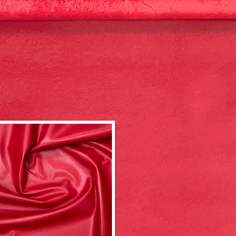 Valencia Ferrari Red Leather Lambskin : Italian Lamb Nappa (0.6-0.7mm) Perfect For Clothing , Leather Jackets , Leather Crafts , Leather Bags , Leather Shoes.