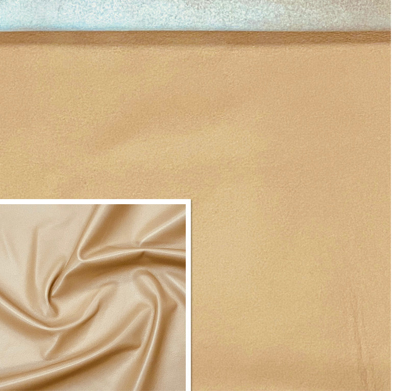 Valencia Camel Tan Leather Lambskin : Italian Lamb Nappa (0.6-0.7 mm). Perfect for Clothing , Leather Jackets, Leather Crafts, Leather Handbags, Leather Shoes