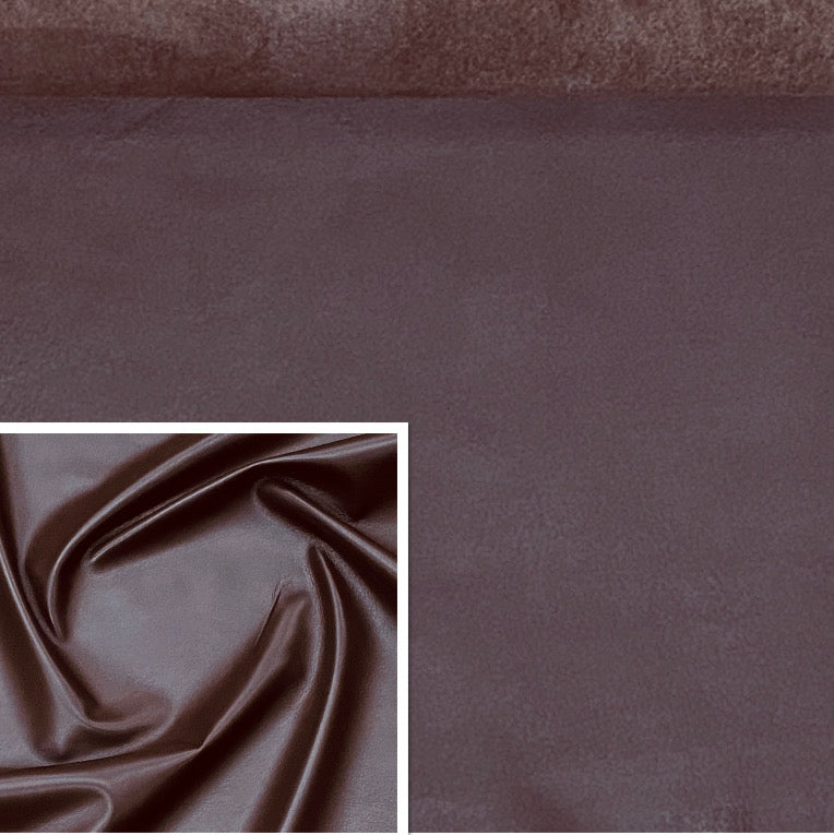 Valencia Chestnut Brown Leather Lambskins : Italian Lamb Nappa (0.6-0.7 mm). Perfect for Clothing , Leather Jackets, Leather Crafts, Handbags, Leather Shoes.