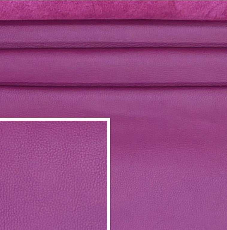 DeerCow Grape Purple Cow Side : (1.3-1.5mm) This Hide Is Perfect For Leather Crafts, Leather Bags, Leather Accessories.