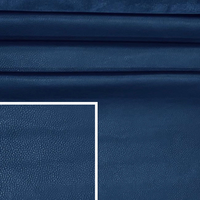 Deercow Navy Leather Cow Side : (1.3-1.5mm) Perfect for Leather Crafts, Leather bags & Leather Accessories.