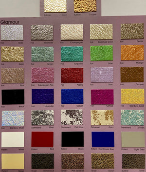 Turquoise  Metallic Affect Foiled Leather Pig skin : (0.6-0.7mm 1.5oz) Perfect for Leather Garments , Leather Crafts , Leather Accessories , Leather Pillows.