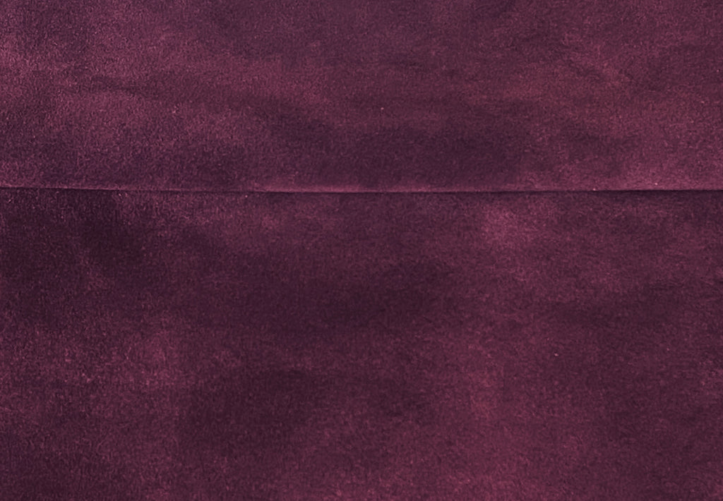 Purple Split Suede : (1.1mm-1.2mm) Silky & Soft Italian Calf Suede Perfect For Suede Shoes , Suede Bags , Suede Leather Crafts , Suede Accessories.