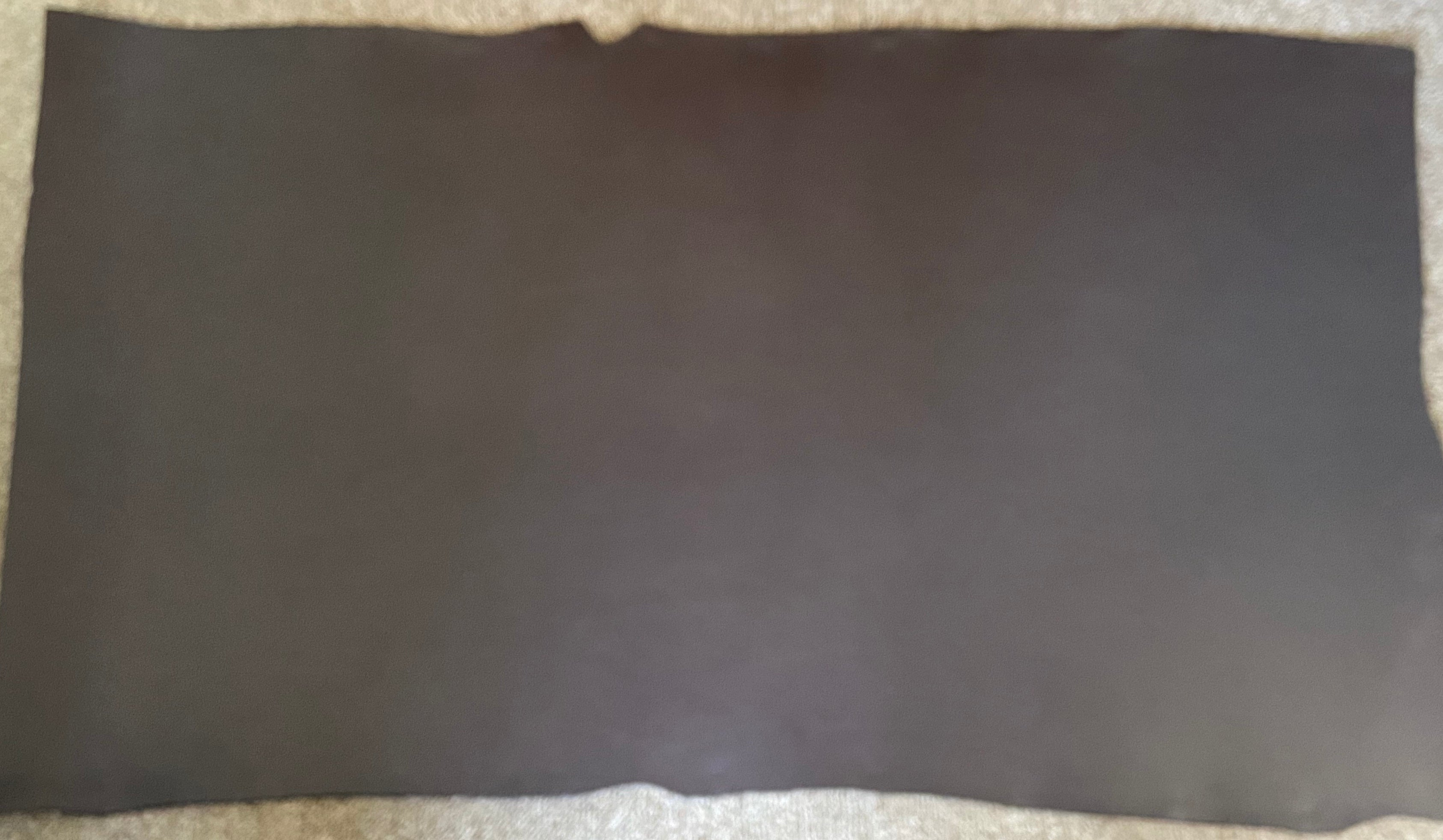 Brown Veg Tan Trimmed Leather Cow Shoulder : (3.0-3.5mm 7-8oz) Perfect For Leather Belts , Leather Shoes , Leather Knife Sheaths , Leather Crafts , Leather Accessories.