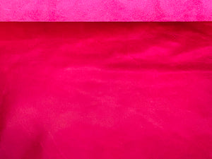 Canada Fuchsia Pink Natural Grain Glazed Leather Cow Hide : (0.9-1.0mm) This Hide Is Perfect for Leather Crafts , Leather Upholstery , Leather Bags Leather Accessories.