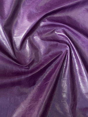 Canada Royal Purple Natural Grain Glazed Leather Cow Hide : (0.9-1.0mm) This Hide Is Perfect for Leather Crafts , Leather Upholstery , Leather Bags , Leather Accessories.