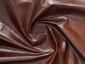 Canada Chestnut Brown Natural Grain Glazed Leather Cow Hide : (0.9-1.0mm) This Hide Is Perfect for Leather Crafts , Leather Upholstery , Leather Bags , Leather Accessories.