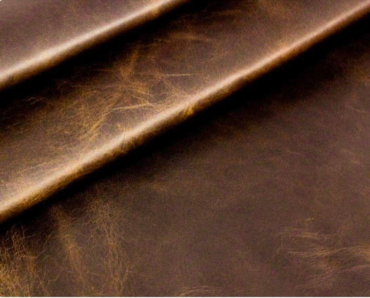 Diesel Brown Waxy South American Leather Cow Hide : (1.1-1.3mm) This Hide Is Perfect for Leather Upholstery, Leather Crafts, Leather Bags , Leather Accessories.
