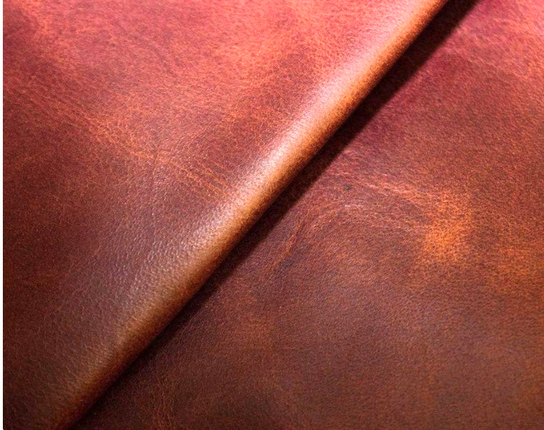 Diesel Rosewood Red Brown Waxy South American Leather Cow Hide : (1.1-1.3mm) This Hide Is Perfect for Leather Upholstery , Leather Bags , Leather Crafts , Leather Accessories.