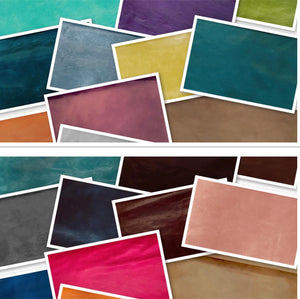 Canada Petrol Blue Natural Grain Glazed Leather Cow Hide : (0.9-1.0mm) This Hide Is Perfect for Leather Crafts, Leather Upholstery , Leather Bags , Leather Accessories.
