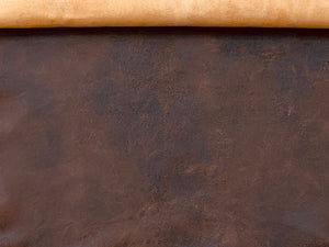 Antique Tan Leather Skin: Distressed Lambskin (0.7-0.8mm) Perfect for Clothing , Leather Jackets , Leather Crafts , Leather Accessories.