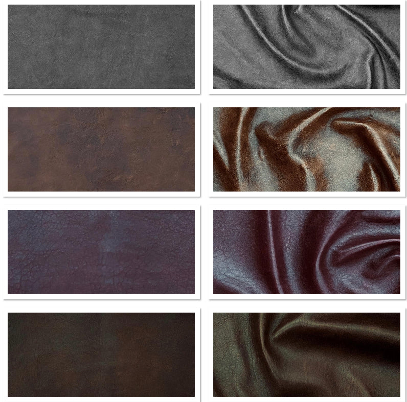 Antique Grey Leather Skin: Distressed Lambskin (0.7-0.8mm 2oz) Perfect for Clothing , Leather Jackets , Leather Crafts , Leather Accessories.