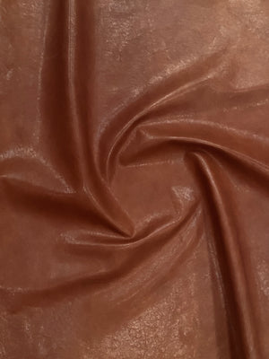 Veg Tan Lamb Vintage Brown Leather Skin : Vegetable Tanned Lambskin (0.7-0.8 mm). Perfect for Clothing, Leather Jackets, Leather Crafts, Leather Handbags.