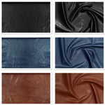 Veg Tan Lamb Black Leather Skin : Vegetable Tanned Lambskin (0.7-0.8mm). Perfect for Clothing, Leather Jackets, Leather Crafts, Leather Handbags.