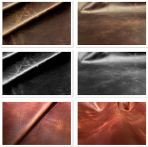 Diesel Black Waxy South American Leather Cow Hide : (1.1-1.3mm)  This Hide Is Perfect For Leather Upholstery , Leather Bags , Leather Crafts, Leather Accessories.