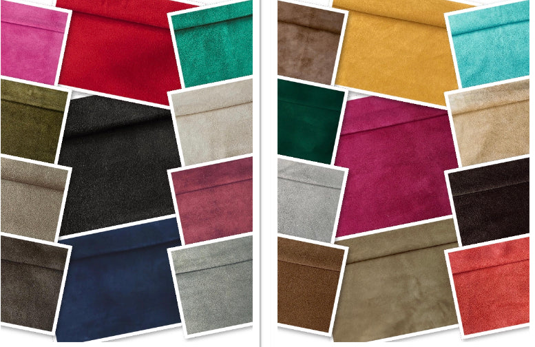 Red Goat Suede : (0.5-0.6mm) Lightweight And Luxurious Goat Suede Perfect For Suede Garments , Suede Bags , Suede Accessories , Suede Leather Crafts.