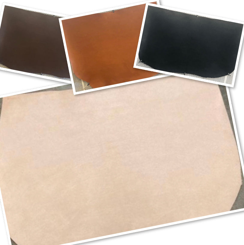 Natural Veg Tan Leather Tooling Shoulder : (Lightest 1.8mm-4 oz To Heaviest 4.0mm-10 oz In Thickness) Perfect for Leather Belts , Leather Shoes , Leather Knife Sheaths , Leather Crafts , Leather Accessories.