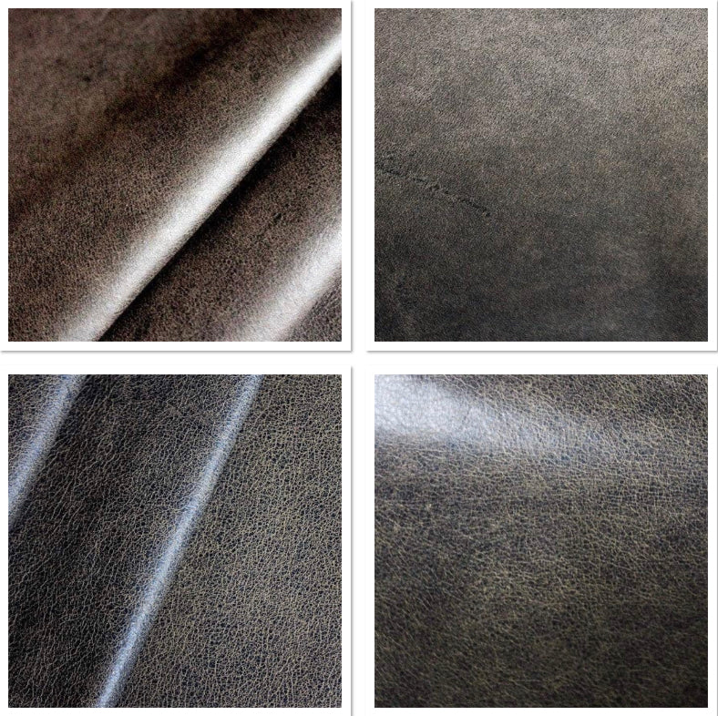 Distressed Dark Brown Leather Cow Hide : (0.9-1.1mm) This Hide Is Perfect for Leather Crafts , Leather Bags , Leather Accessories