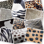 Hair On Hide Reverse Cheetah Print, White Spots : (1.2-1.4mm) This Hide Is Perfect For Leather Bags , Leather Accessories.