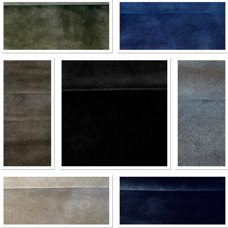 Washable Dark Navy Blue Split Suede : (1.1mm-1.2mm) Silky & Soft Italian Calf Suede Perfect For Suede Shoes , Suede Bags , Suede Leather Crafts , Suede Accessories.
