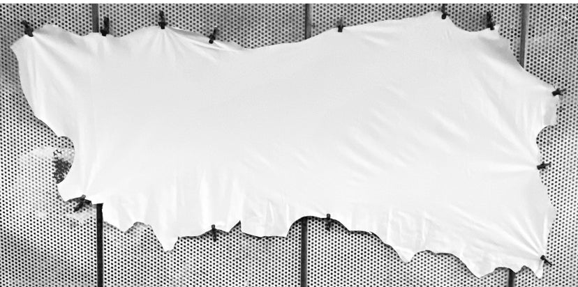 Ballet White Garment Weight Leather Cow Side : Available In Four Different Weights (Lightest 0.5mm To Heaviest 1.0mm In Thickness) Perfect For Ballet Shoes, Leather Garments & Leather Accessories.