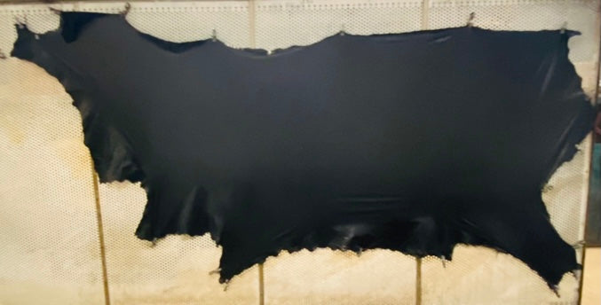 Black Japanese Plonge Leather Cow Side : (0.5-0.6mm) This Hide Is Perfect For Leather Garments, Leather Crafts & Leather Accessories.