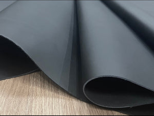 Kestrel Matte Black Smooth Grain Leather Cow Side : (0.9/1.1mm) This Hide Is Perfect For Leather Garments, Leather Shoes & Leather Accessories.