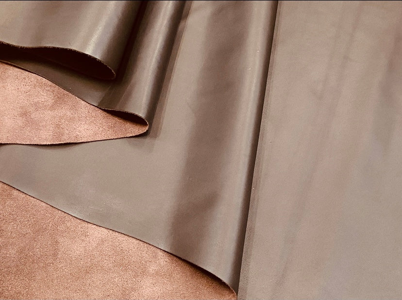 Moto Light Brown Smooth Grain Cow Side : (0.9-1.1mm) Perfect For Leather Crafts, Leather Bags & Leather Accessories.