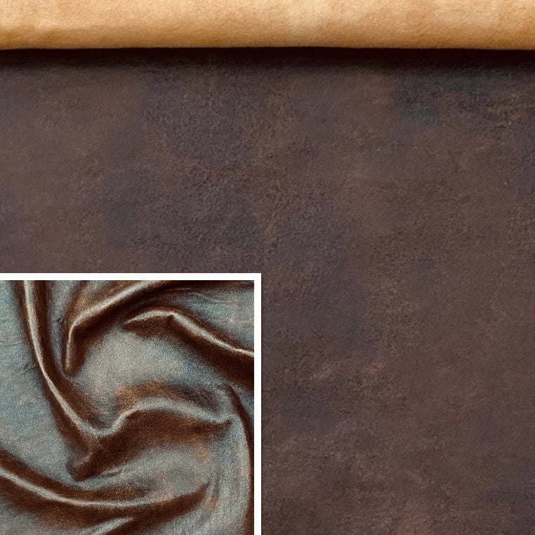 Antique Tan Leather Skin: Distressed Lambskin (0.7-0.8mm 2oz) Perfect for Clothing , Leather Jackets , Leather Crafts , Leather Accessories.
