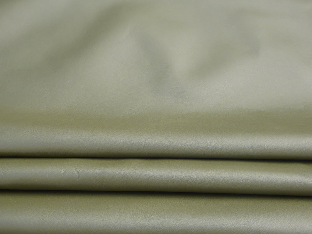Amazon Green Leather Skin: Italian Lamb Nappa (0.6-0.7mm) Perfect for Clothing ,Leather Crafts, Leather Bags , Leather Shoes.