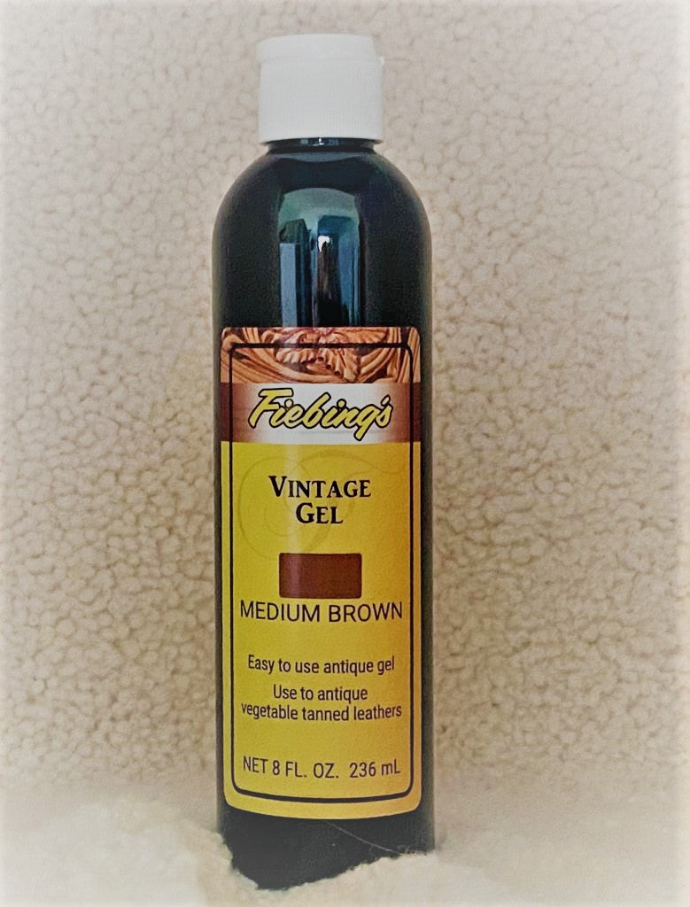 Fiebing's Vintage Gel : Used To Antique Natural Vegetable Tanned Leather (236ml or 8oz) Available In 7 Colours.