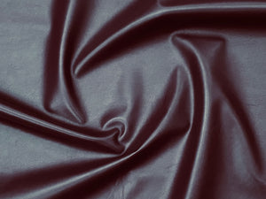 Valencia Plum Leather Lambskin : Italian Lamb Nappa (0.6-0.7mm) Perfect For Clothing , Leather Jackets , Leather Crafts , Leather Bags , Leather Shoes.