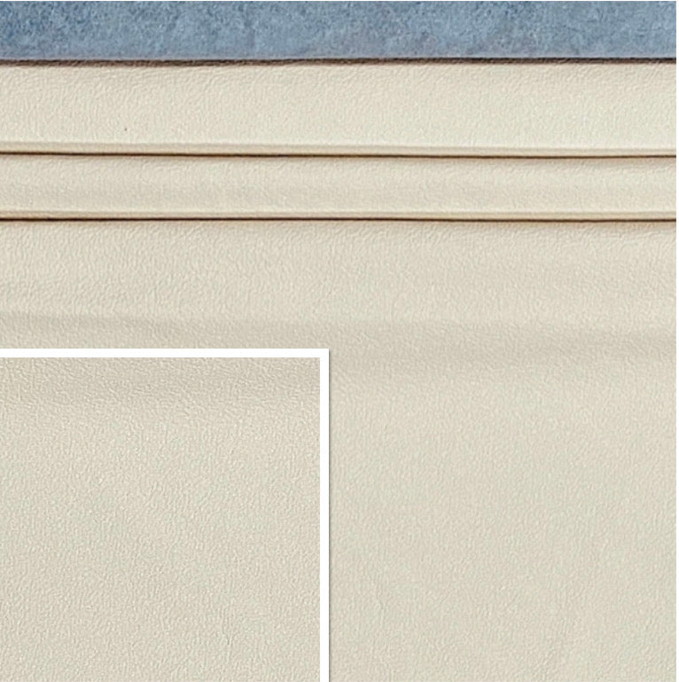 Newmarket Soft Linen Off White Italian Leather Cow Hide : (0.9-1.1mm) This Hide Is Perfect for Leather Upholstery , Leather Crafts, Leather Bags , Leather Accessories.