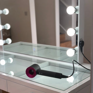 Signature Luxe Hollywood Mirror Vanity Station