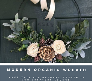MODERN ORGANIC DOOR WREATH
