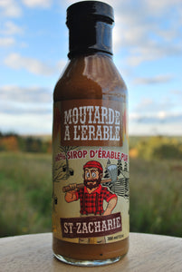 Moutarde a l'erable, produit erable, ferme jn morin, produit du terroir, moutarde artisanale, moutarde du quebec