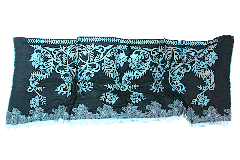 Elegance Embroidery Lace - Mawlana Cashmere & Silk