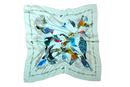 Spring Breeze Silk-dal Square Scarves - Mawlana Cashmere & Silk