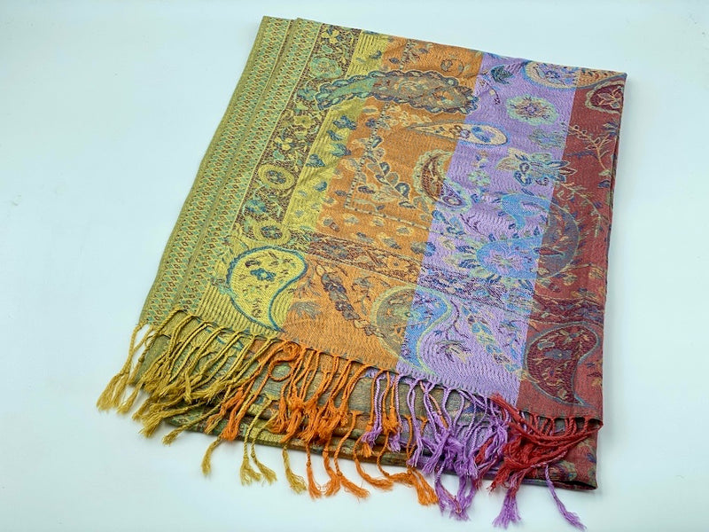 Striped Lines Colorful Modal Shawls - Multiple Variants
