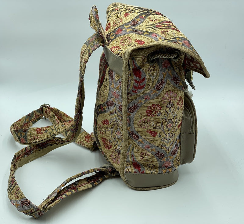 Ottoman Satin Split Backpack KILIM
