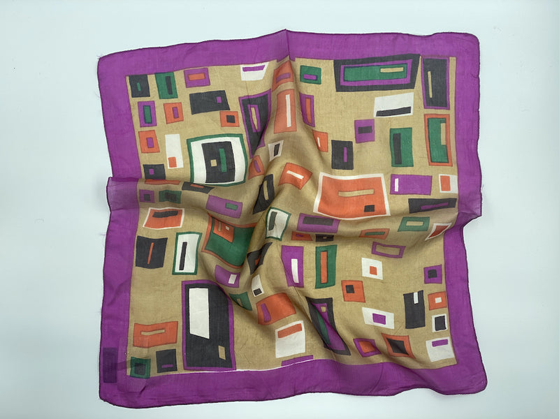 Pure Raw Silk Square Bandana Scarves - Small