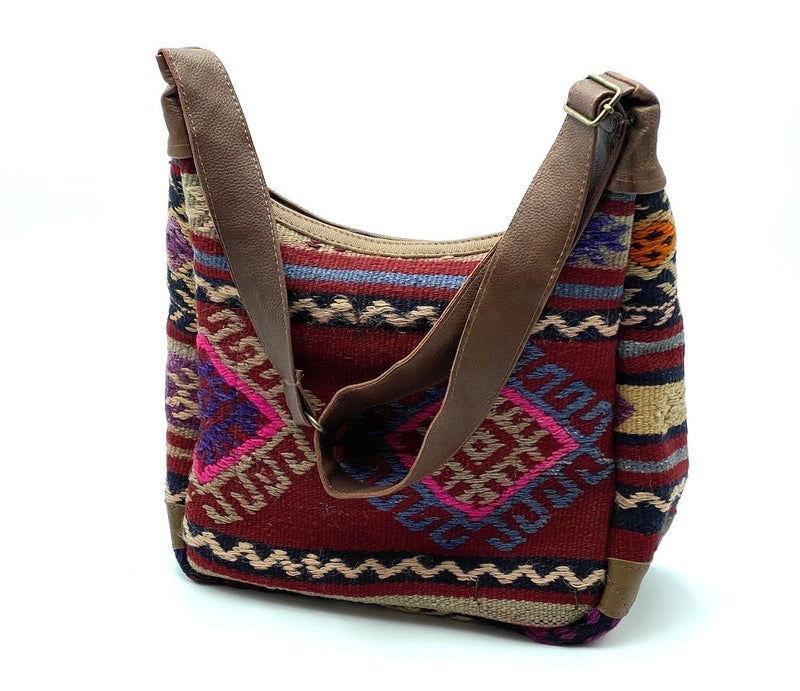 Sidebag KILIM with beads & Coins Ornaments