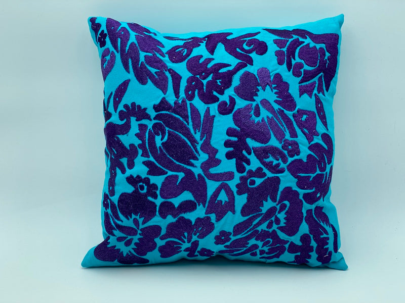 "Cotton Pillow Covers Plant Designs - Reel Embroidery 40 CM x 40 CM | 16"" X 16 """