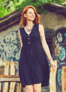 Boho Short Summer Dress Side Pockets - Tlete - Mawlana Cashmere & Silk