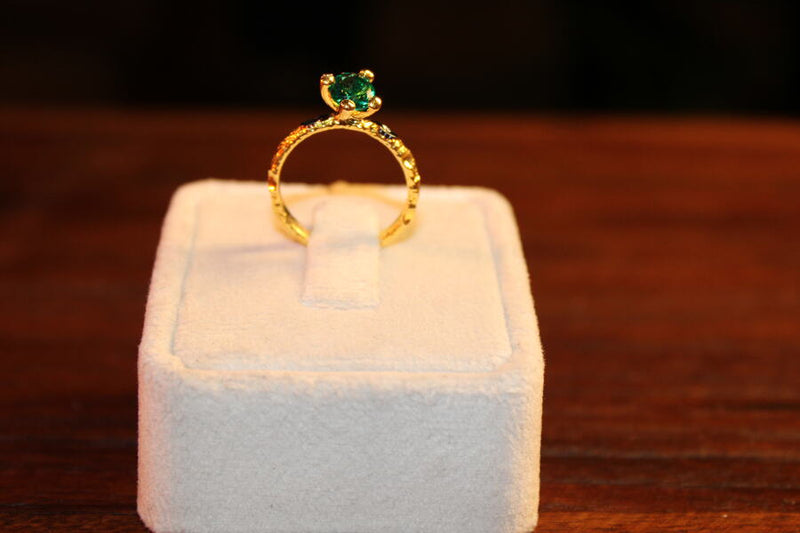 Small Ring with Gemstone - Mawlana Cashmere & Silk