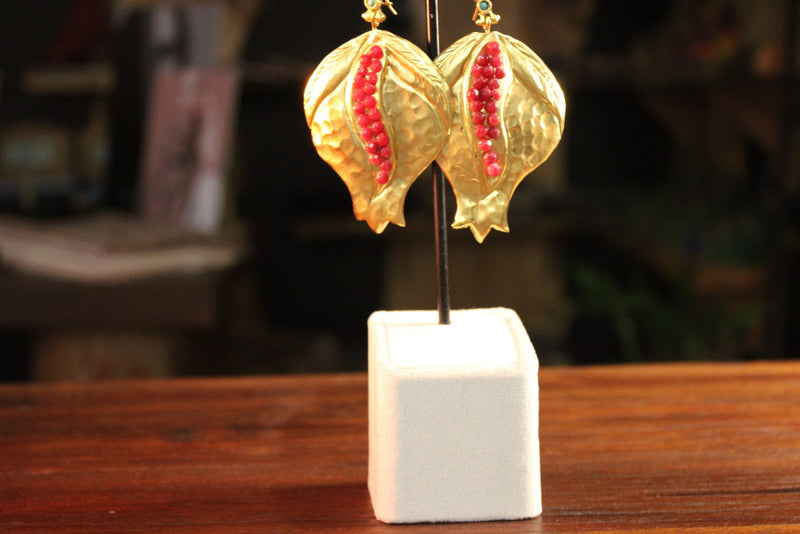 Nature inspired Byzantine Earings - Mawlana Cashmere & Silk