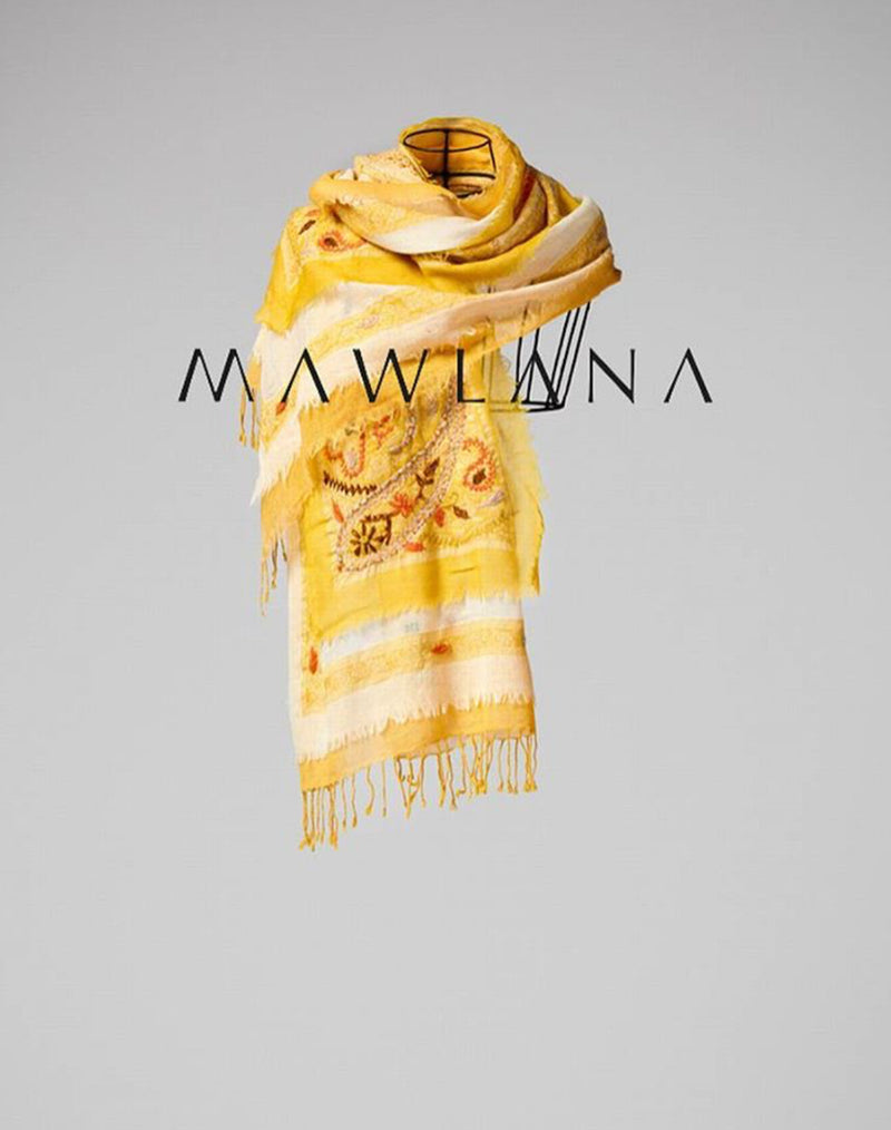 Boil Wool Layered Embroidery - Mawlana Cashmere & Silk