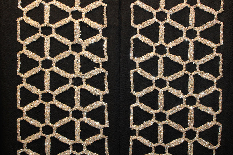 Designer French Lace - Geometric Rose - Mawlana Cashmere & Silk